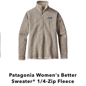 Sweaters - NWT- Patagonia Women's Better Sweater 1/4-Zip